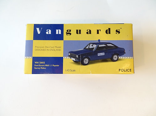 Vanguards Ford Escort Mk11 Surrey Police diecast model