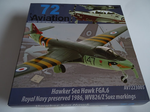 Aviation 72 'Hawker Sea Hawk FGA.6 AV7223005 diecast model
