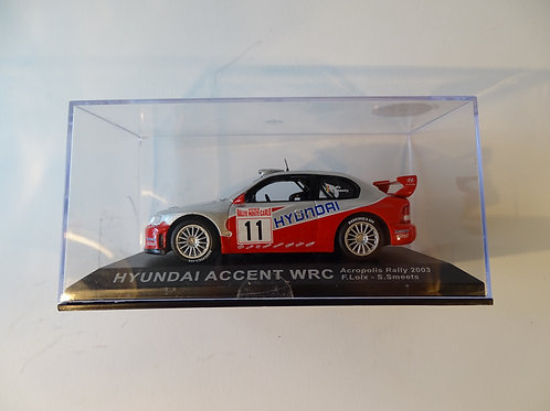Hyundai Accent WRC rally car model.