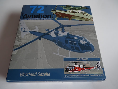Aviation 72 'Westland Gazelle' AV7224003 diecast model