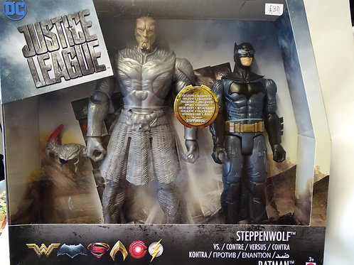 Steppenwolf and Batman figures by DC Comics