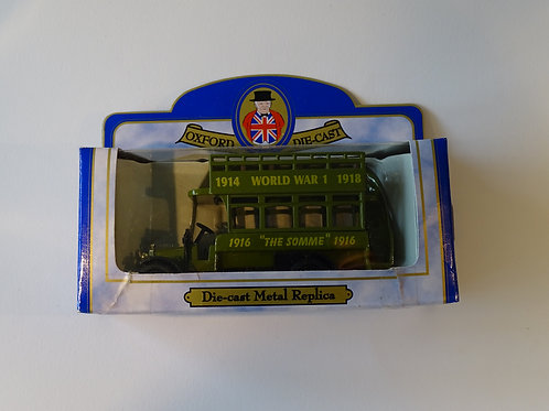 Oxford diecast bus - World War 1 and The Somme.
