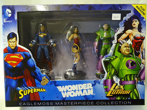 'Superman, Wonder Woman, Lex Luthor' figures by DC Comics