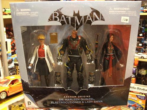 """Batman Arkham originals 3 figure set 6"""""""
