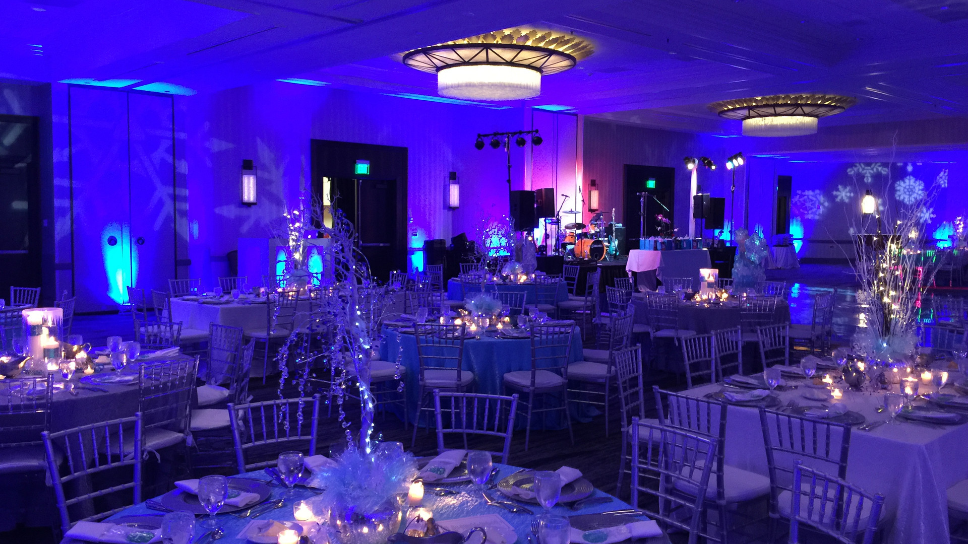 Uplighting for Wedding Reception