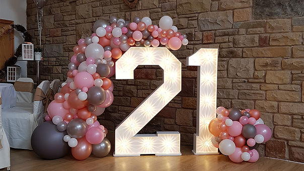 light up numbers for party event