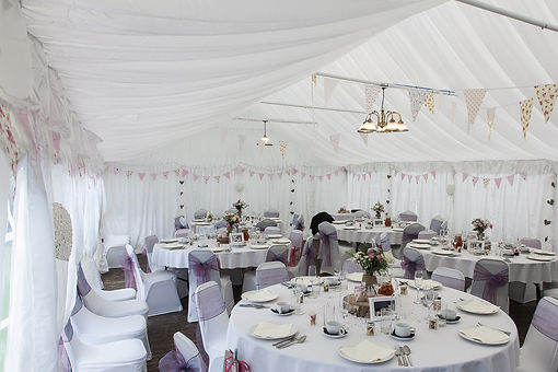 marquee for wedding event