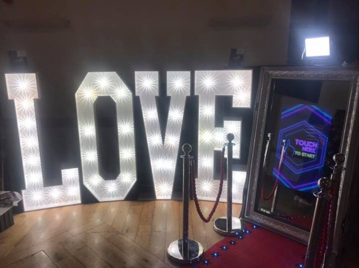 Magic Mirror Photo Booth & 'LOVE' Letters