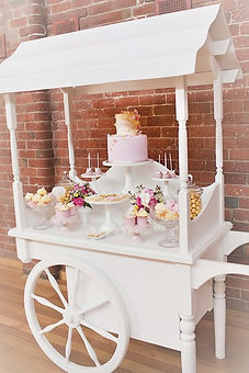 candy cart for wedding event