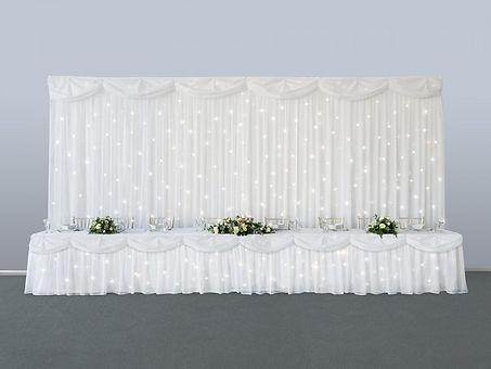 starlit backdrop at wedding reception