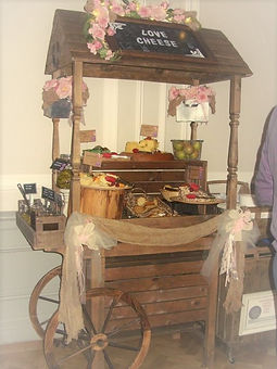 cheese cart for wedding event
