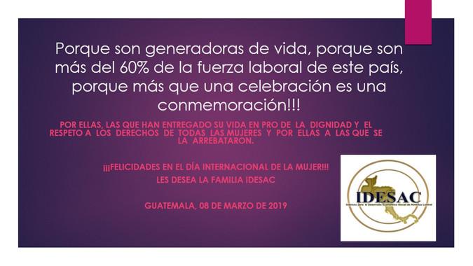 Felicidades a todas las mujeres de nuestro país y del mundo en el Día Internacional de la Mujer.