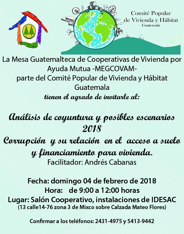 La Mesa Guatemalteca de Cooperativas de Vivienda por ayuda mutua -MEGCOVEAM