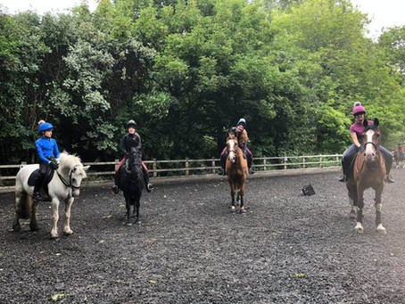 BACK TO LESSONS AT STEPNEY BANK RIDING STABLES.