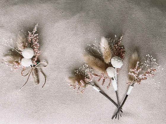 Hair Pins and Boutonnière - Blossom