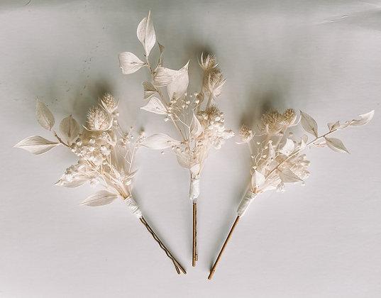 Hair pins - Wonderful White