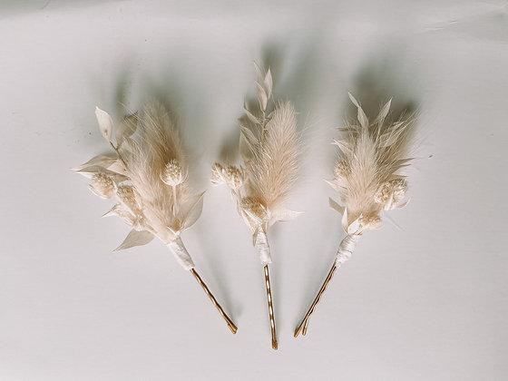 Hair Pins - White Bohemian