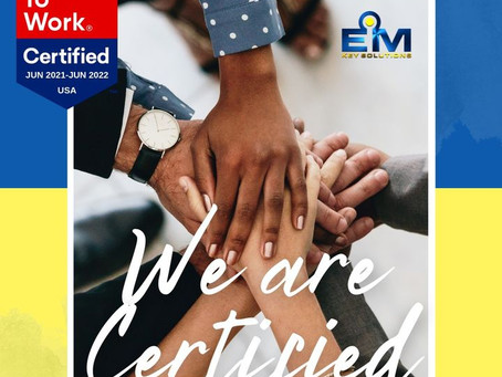 EMKS is proud to announce that we are officially Great Place to Work Certified™ for the 3rd year!