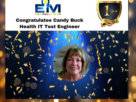Happy Workiversary, Candy Buck!