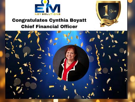 Happy Workiversary, Cynthia Boyatt!