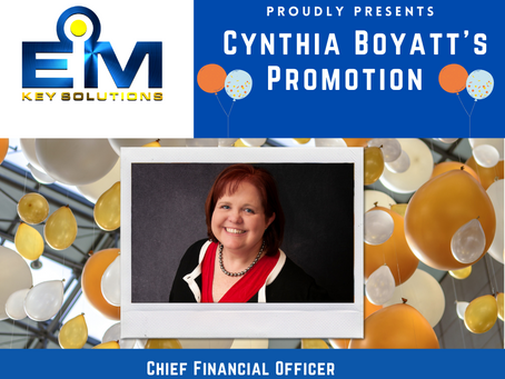 EMKS Proudly Presents Cynthia Boyatt's Promotion!