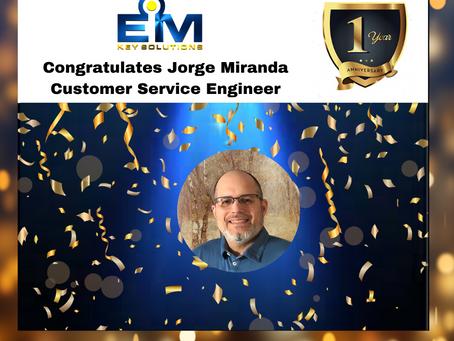 Happy Workiversary, Jorge Miranda!