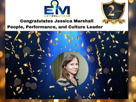 Happy Workiversary, Jessica Marshall!