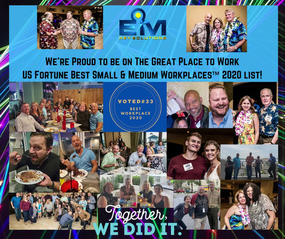 EMKS is honored to be on the Great Place to Work US' Best Small & Medium Workplaces™ list!