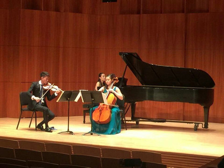 Honors Trio Concert in Hatch Hall - Dvorak Piano Trio No.3 in F minor Op.65