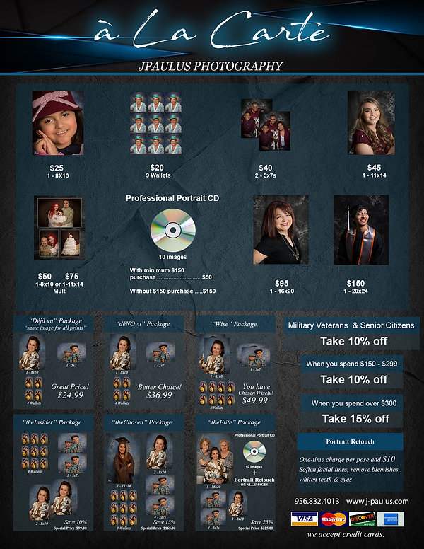 JPaulus Price Directory Price Sheet 2020