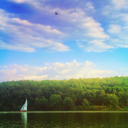 This past weekend was perfect. Here's a photo of Lake Arthur in Moraine State Park