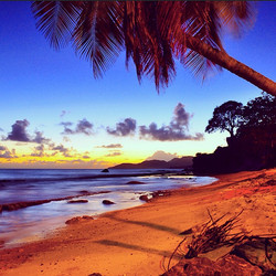 Just after sunset on the island of Vieques in Puerto Rico