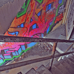 I love that graffiti artists make abandoned and forgotten places their canvas