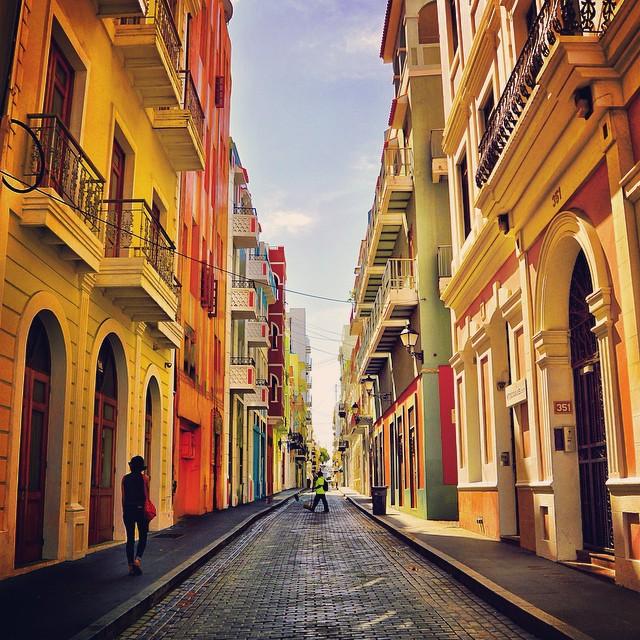 The streets of Old San Juan, PR