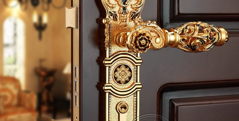 85mm CENTRAL DISTANCE HOLLOW SPLIT ZINC DOOR HANDLE DOOR  LOCK