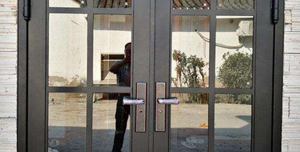 Hench Beautiful Painted Iron Single French Door Design