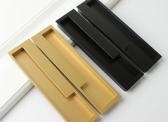 "15.75"" Black/Gray/Embedded Stealth Door Handle Slotted Drawer Cupboard Wardrobe"