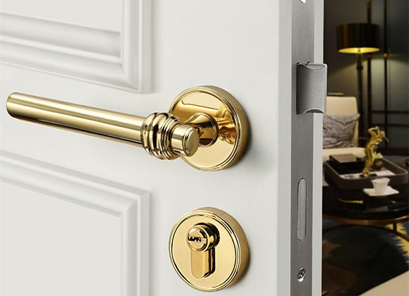 High Quality Modern Gold Interior Door Handle Door Lock Door Hardware Handles