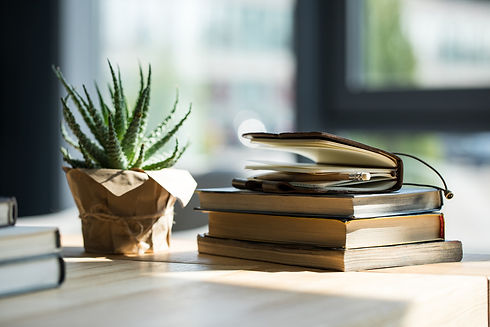 Depositphotos_book and plant on table co