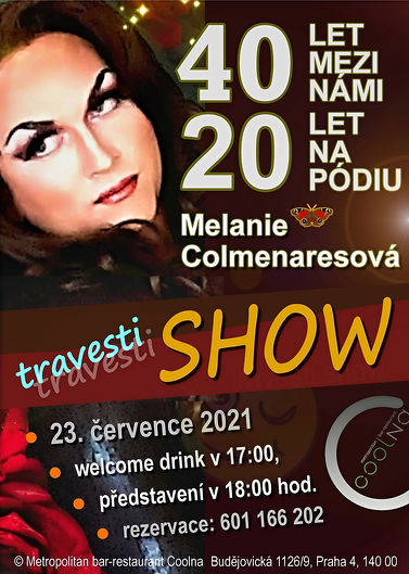 plakát akce Travesti show