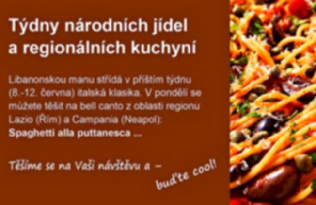 týdny národních jídel a regionálních kuchyní