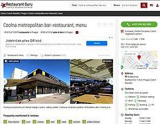 webové stránky serveru Restaurant Guru