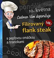 tip z poledního menu – flank steak