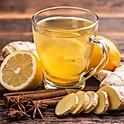 Čaj z čerstvého zázvoru, citron