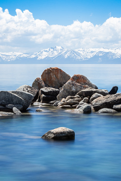 Keep Tahoe Blue Aluminum Print