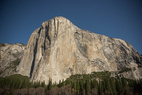 El Cap Lit by a Full Moon Aluminum Print