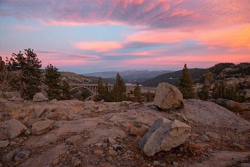 Pink Skies Over Summit Aluminum Print