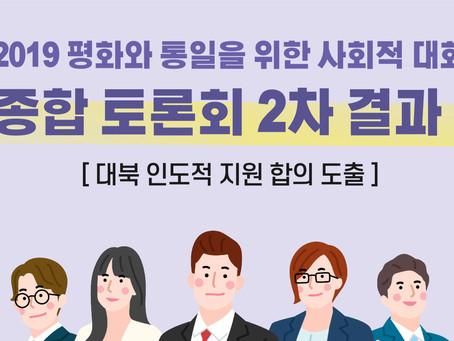 [소식] 종합 토론회 2차 결과! (대북 인도적 지원 합의 도출)
