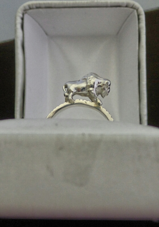 Sterling Buffalo Ring