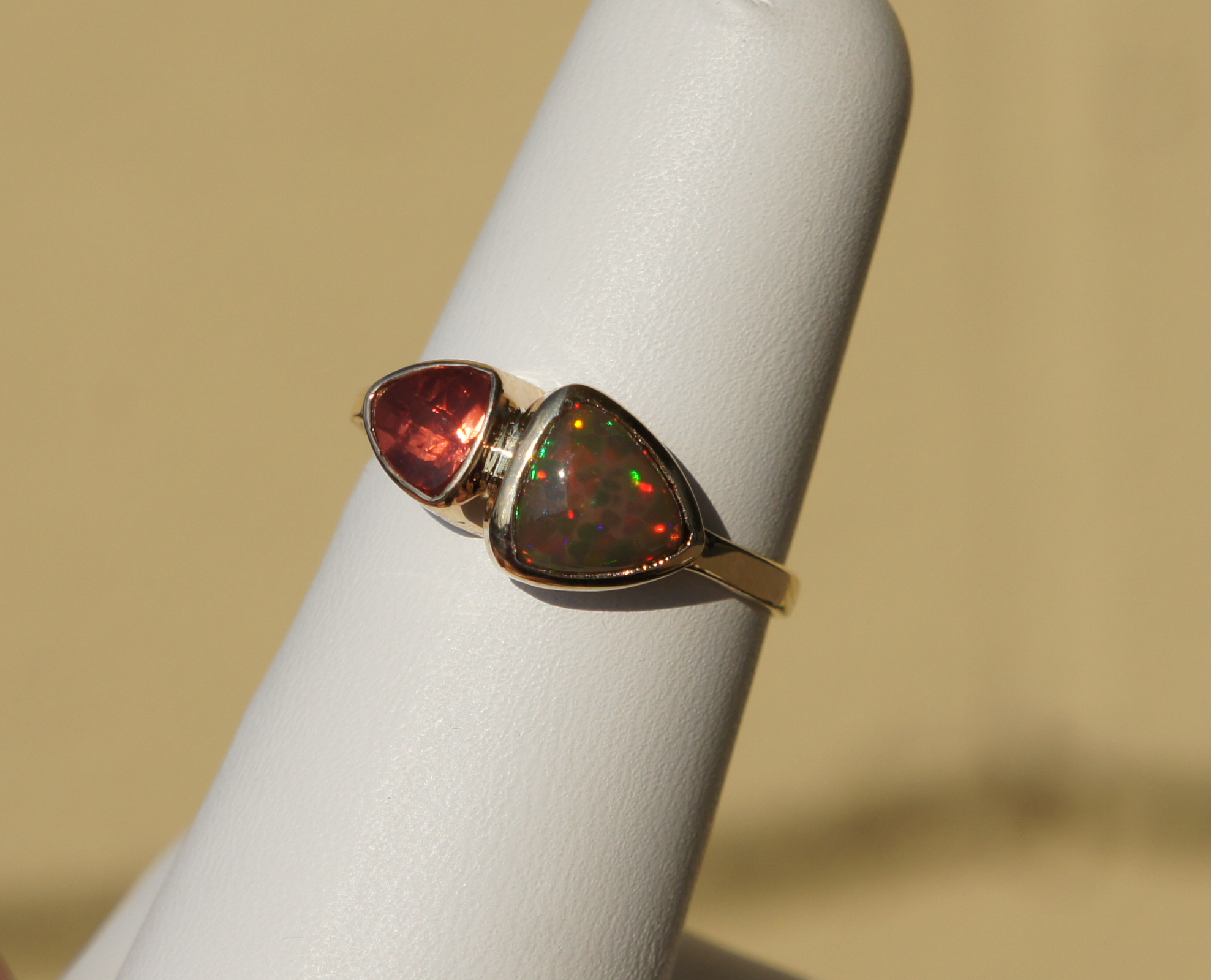 Opal & Sunstone Ring